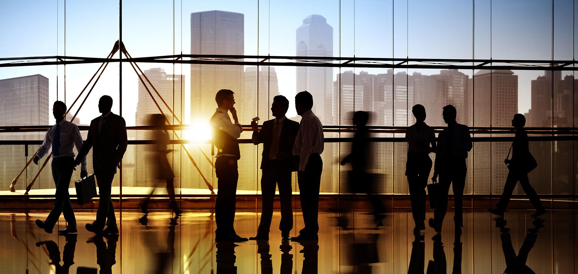 persone in ombra in abito business
